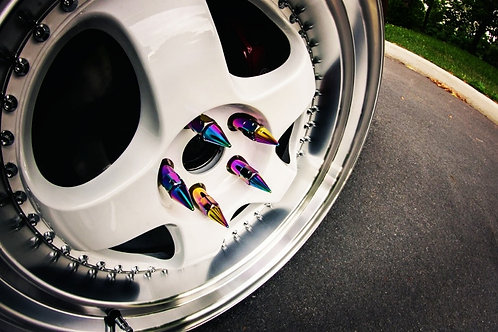 Blox spiked wheel nuts neo chrome.