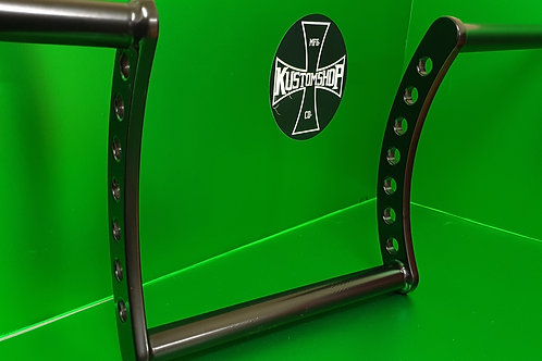 "Kustomshops ""the renegade"" 10"" handlebars, 1"" tube diameter."