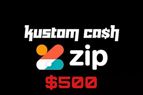 Kustom cash $500