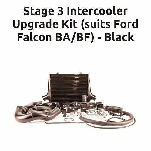 Intercooler Kit Ford Falcon BA/BF Stage 3 (BLACK COOLER).