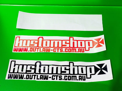 Kustomshop sticker