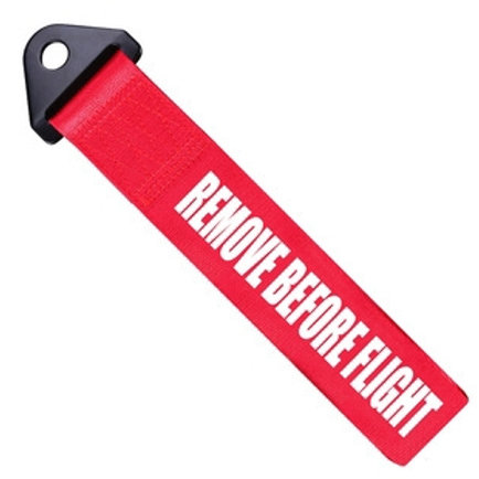 Remove before flight tow strap.