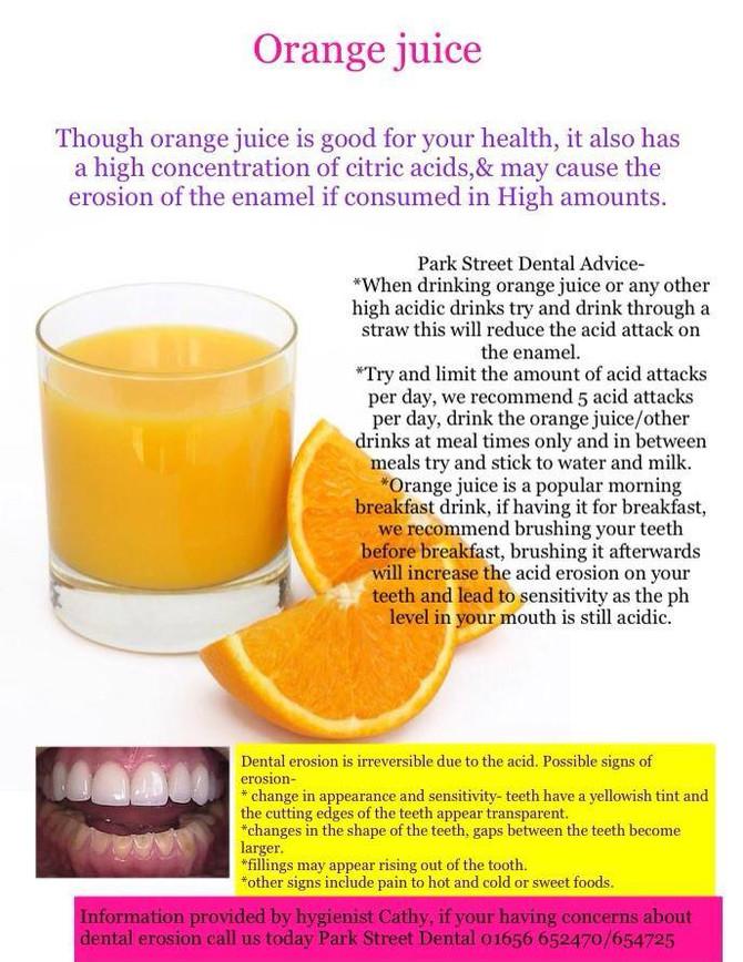 Orange Juice and Acid Erosion