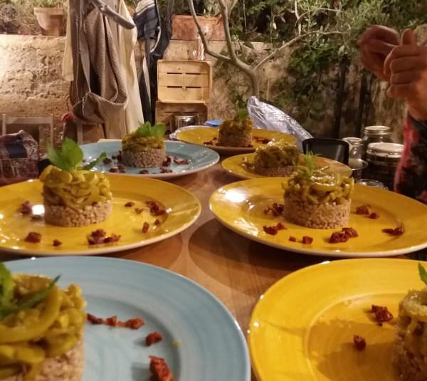 Riso carnaroli/ cucuzza/ pomodori secchi
