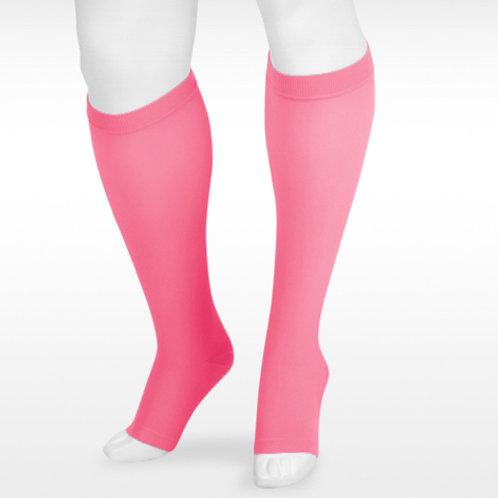 Juzo Soft 15-20mmHg Knee High Socks- Pink