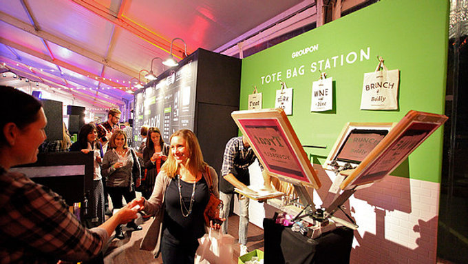 Groupon Search Wall @ New York Wine & Food Festival