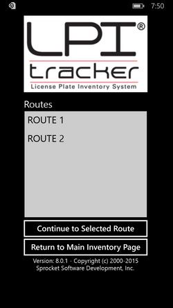 Panasonic Route Selection