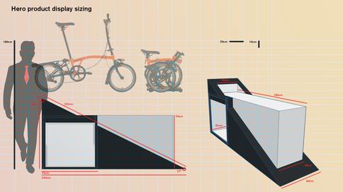 Hero bike display measurements