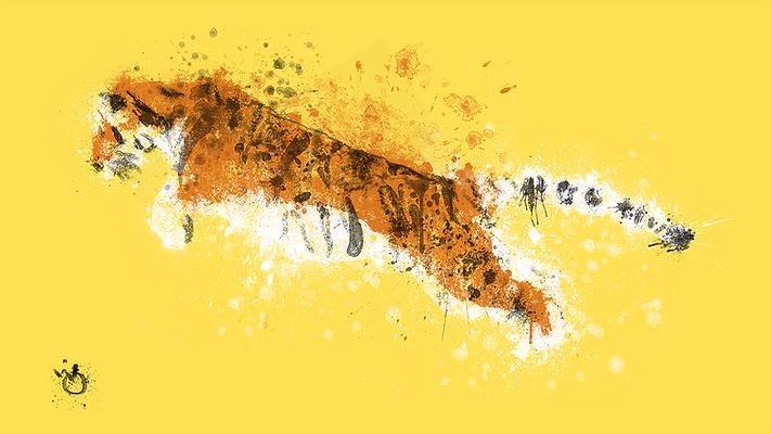 Tiger abstract illustration