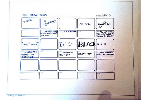 Lady of Letters - Storyboard 1