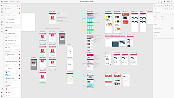 Real Store Wireframe complete