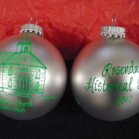 Methodist Church Glass Hand Painted Ornaments