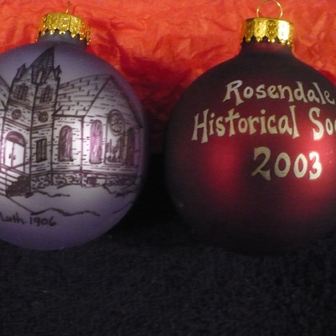 Peace Lutheran Church Glass Hand Painted Ornaments