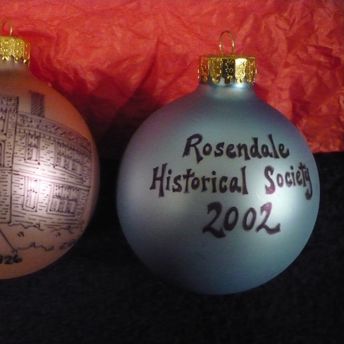 53  Rosendale High School Glass Hand Painted Ornaments