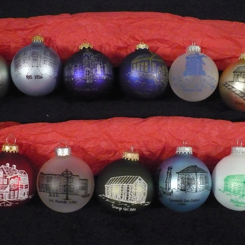 Glass Hand Painted Ornaments - front