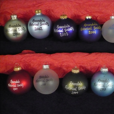 Glass Hand Painted Ornaments - back