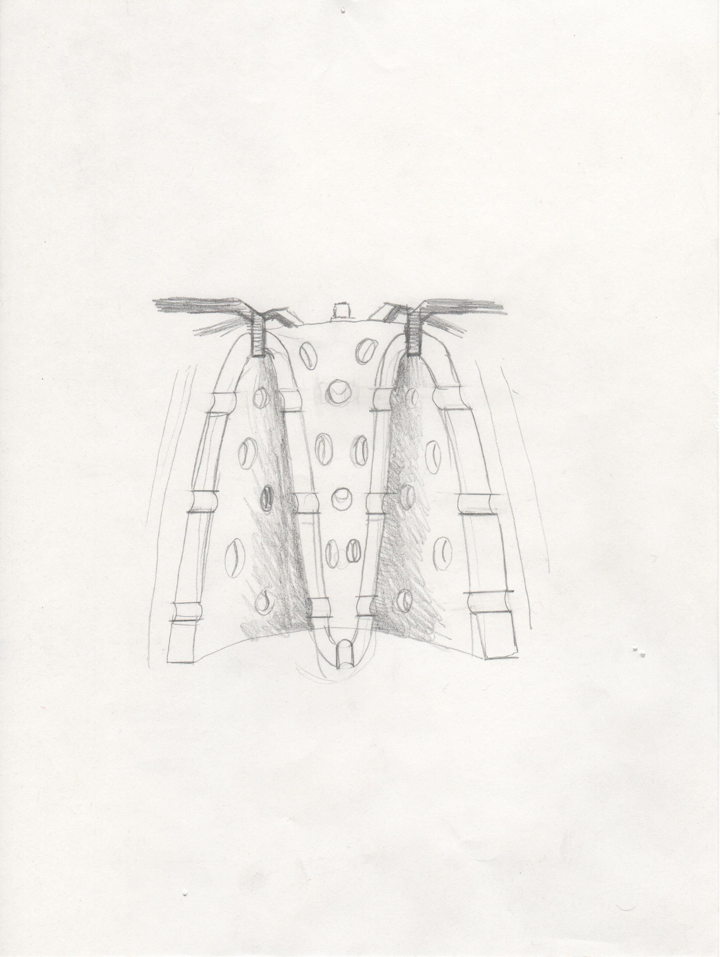 Jet Engine Sketch 4 (combustor can)