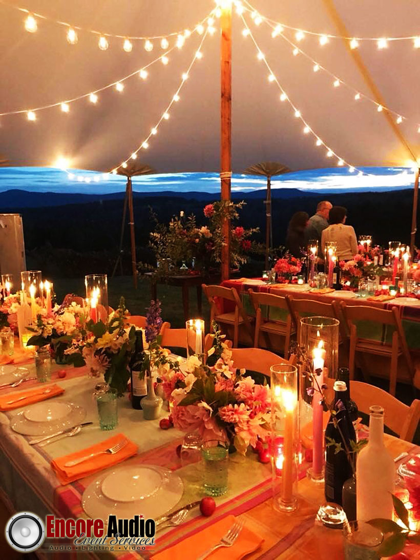 Western MA Tent String Lighting