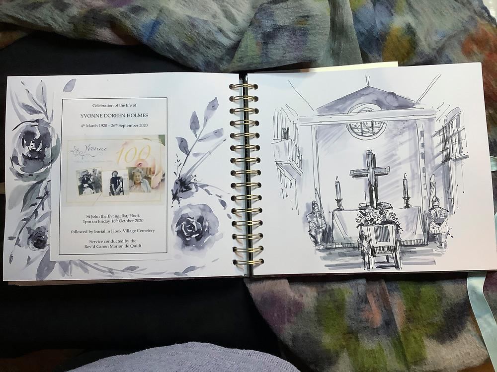 #Funeral ideas, #memories, #illustrated album