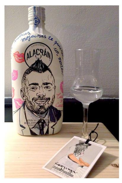 Portrait on a bottle