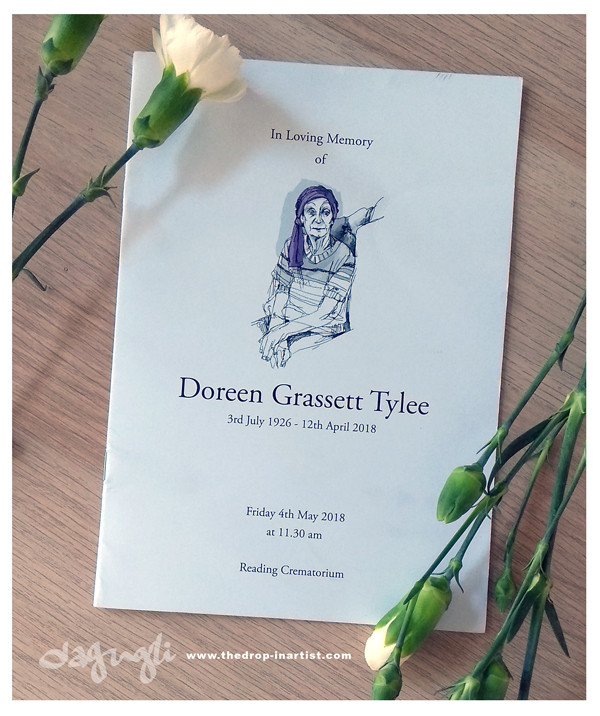 Doreen´s Order of Service printed booklet