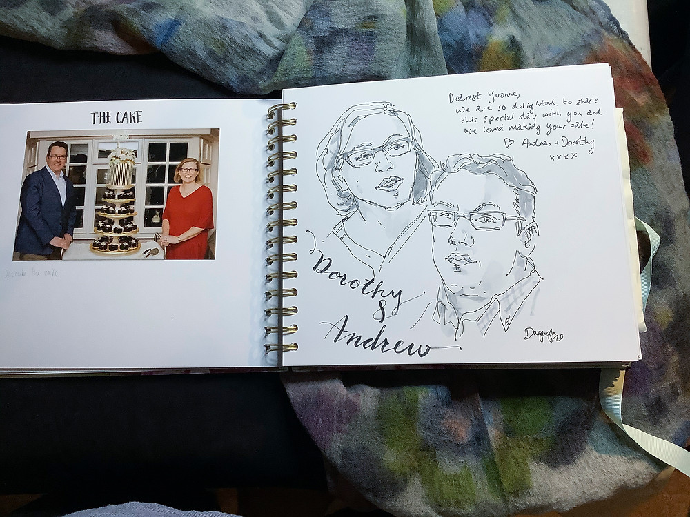 portrait on the guestbook