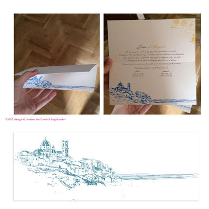 Wedding invitation with house portrait.jpg