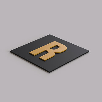 Буквы из золотого матового оргстекла