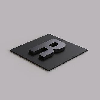 Буквы из крашеного ПВХ 10 мм