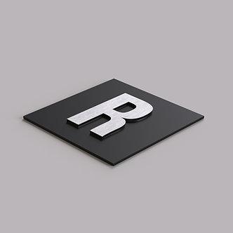 Буквы из АКП шлифованный металл