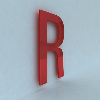 Плоские буквы из оргстекла