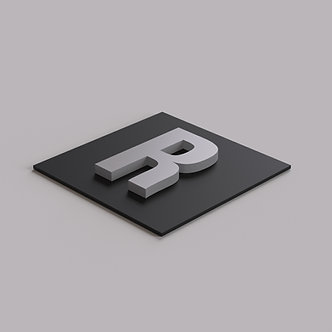 Буквы из белого ПВХ 10 мм