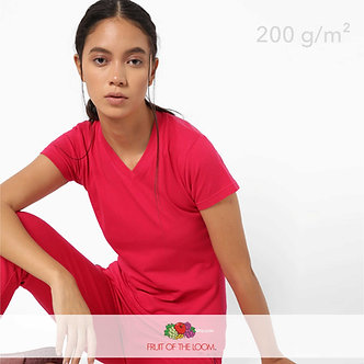 Футболка Женская Lady-Fit V-Neck Fruit of The Loom