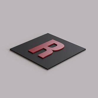 Буквы из цветного ПВХ 3 мм