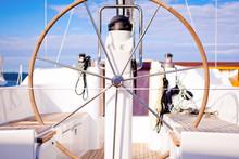 Steer Wheel on a Boat