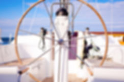 Wheel on Sailing Yacht