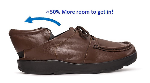 Quikiks Hands-Free All-Leather Casual Lace-Up -Men's