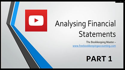 Analysing Financial Statements Course Part 1