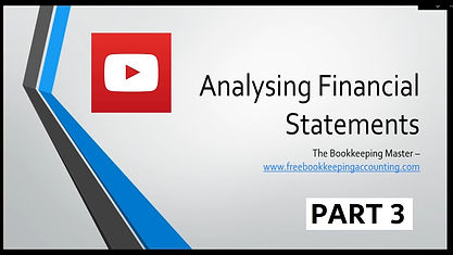 Analysing Financial Statements Course Part 3