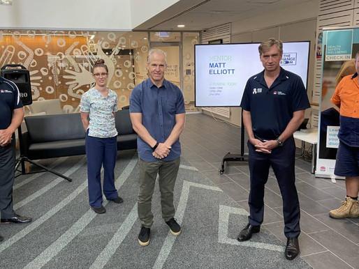 Matt Elliott brings The Change Room to Mid North Coast Local health District frontline workers