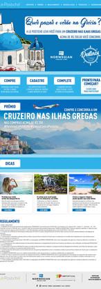 Hotsite de cruzeiro pelas ilhas gregas