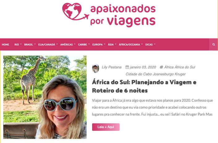 Ação com o blog Apaixonados por Viagens