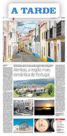 Matéria sobre romance publicada no Alentejo no jornal A Tarde