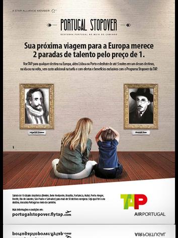 Anúncio veiculado para divulgar o Portugal Stopover da TAP.