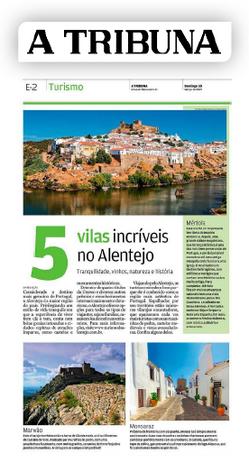 Matéria sobre as vilas alentejanas publicada no jornal A Tribuna
