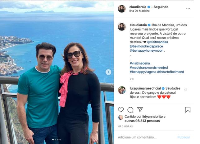 Ação com a atriz Claudia Raia