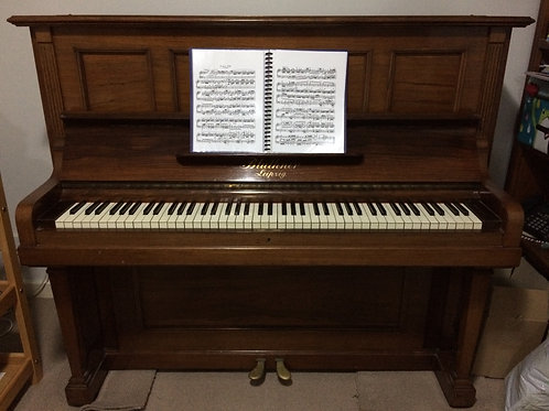1914 Bluthner Upright Piano, fully refurbished in 2017
