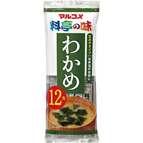 Marukome Instant Miso Soup Wakame 12 Sachets