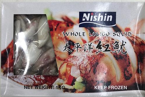 AUSHIN Whole Loligo Squid 1kg