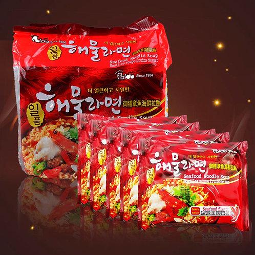 Paldo Octopus Noodle Soup 5 Packs